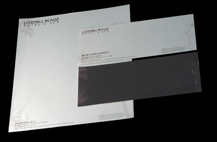 losehill house hotel stationery